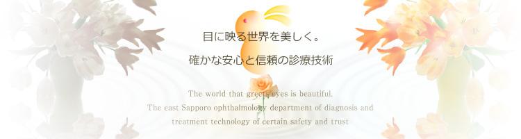目に映る世界を美しく。確かな安心と信頼の診療技術の東札幌眼科